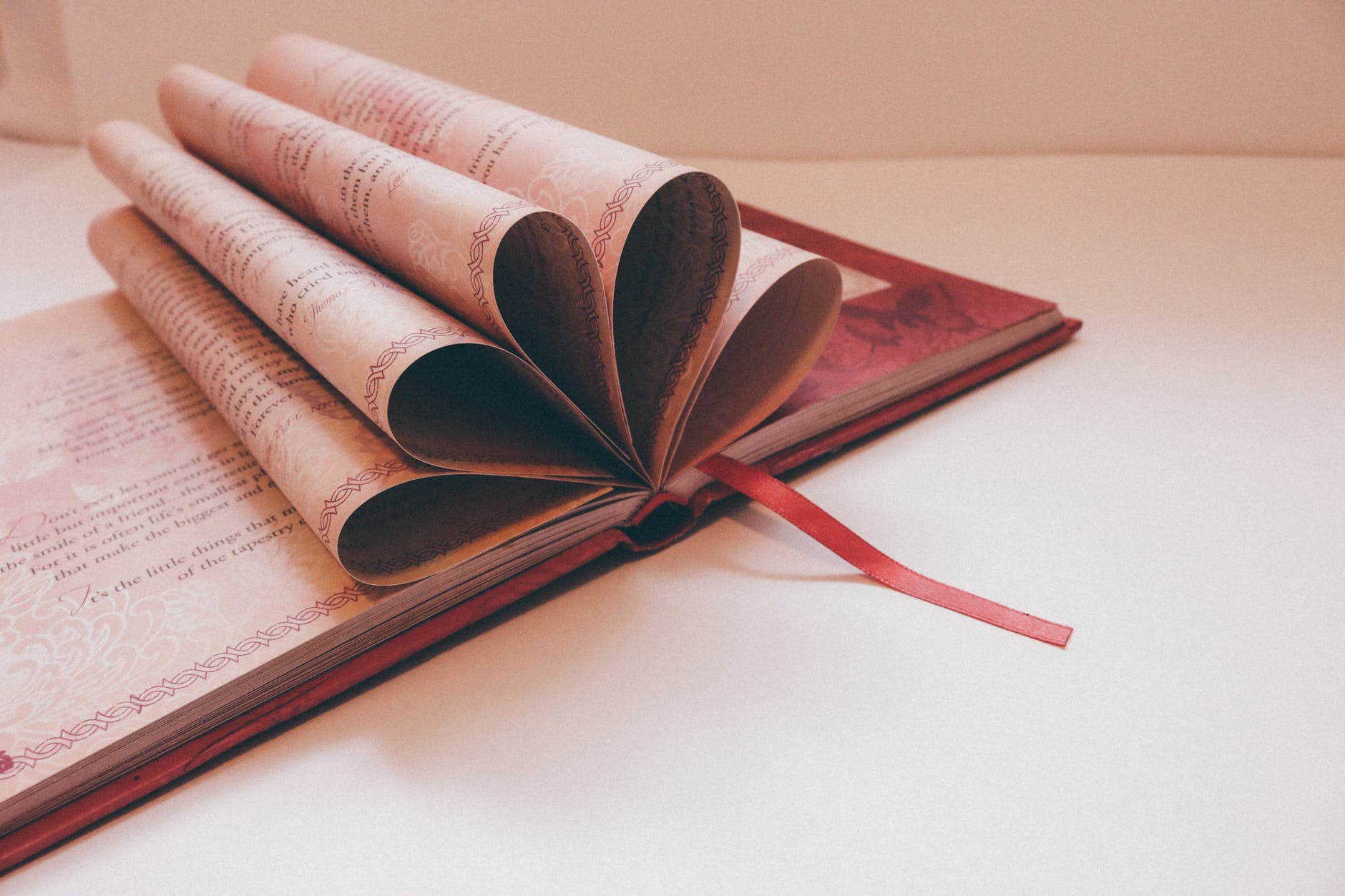 close up of a book over white background